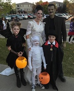 Vampires Family Homemade Costume