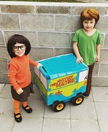 Velma and Shaggy Homemade Costume