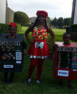 Vending Machines Family Homemade Costume