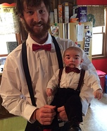 Parent and baby costume ideas - Ventriloquists and Dummy Family Costume