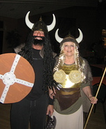 Viking Warrior and Brunhild Homemade Costume