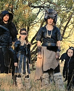 Vikings and Dragon Family Homemade Costume