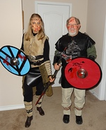 Vikings Ragnar Lothbrok and Lagertha Homemade Costume