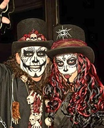 Voodoo King and Queen Homemade Costume