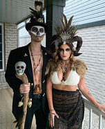 Voodoo Priestess and her Witch Doctor Homemade Costume
