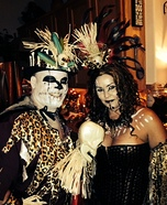 Voodoo Priestess and Voodoo Doctor Couple Homemade Costume