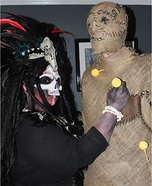 Voodoo Priestess and Voodoo Doll Homemade Costume