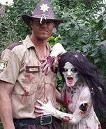 Walking Dead Zombie and Rick Grimes Homemade Costume