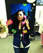 Walking Pop Art Comic Strip Homemade Costume