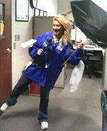 Weather Channel Reporter in a Storm Homemade Costume