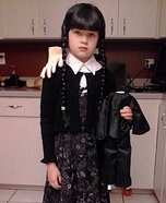 Halloween costume ideas for girls: Wednesday Addams Homemade Costume