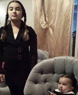 Wednesday and Gomez Addams Homemade Costume