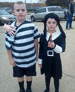 Wednesday and Pugsley Addams Homemade Costume