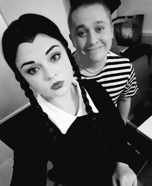Wednesday and Pugsley Addams Homemade Costume