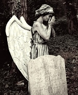 Weeping Cemetery Angel Homemade Costume
