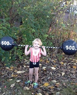 Weight Lifter Homemade Costume