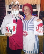 Wendy & Colonel Sanders Homemade Costume