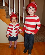 Where's Waldo and Wenda Homemade Costume