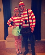 DIY couples costume - Where's Waldo?
