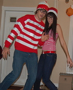 Where's Waldo & Waldette Costume