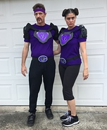 White and Fran from DodgeBall: A True Underdog Story Homemade Costume
