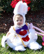 White Rabbit Baby Homemade Costume