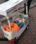 Golfer in his Golf Cart Homemade Costume