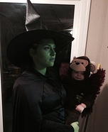 Parent and baby costume ideas - Wicked Witch and her Flying Monkey Costume