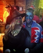 Coolest couples Halloween costumes - Wicked Witch and her Flying Monkey Couple Costume