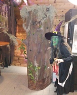 Wicked Witch of the Forest and Haunted Tree Homemade Costume