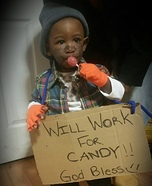 Will Work 4 Candy Homemade Costume