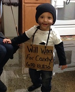Will Work for Candy! Homemade Costume