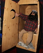 Willie in the Outhouse Homemade Costume