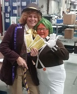Willy Wonka and Oompa Loompa Couple Costume