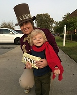 Willy Wonka and Charlie Homemade Costume