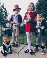 Willy Wonka and Friends Homemade Costume