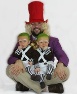 Willy Wonka and his Oompa Loompas Homemade Costume