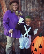 Willy Wonka and Oompa Loompa Homemade Costume