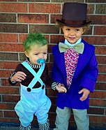 Willy Wonka and Oompa Loompa Baby Costumes