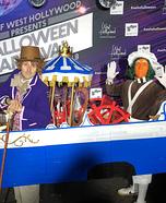 Willy Wonka and Oompa Loompa Aboard the Wonkatania Homemade Costume