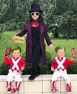 Willy Wonka and Oompa Loompas Homemade Costume