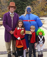 Willy Wonka and the Chocolate Factory Family Homemade Costume