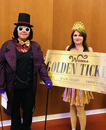 Willy Wonka and the Golden Ticket Homemade Costume