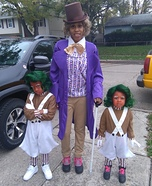 Willy Wonka and the Oompa Loompas Homemade Costume