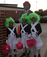 Willy Wonka and the Oompa Loompas Family Costume