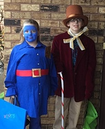 Willy Wonka and Violet Homemade Costume