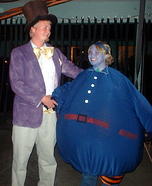 Willy Wonka and Violet Couple Costume