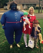 Willy Wonka Crew Family Homemade Costume