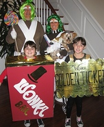 Willy Wonka & the Chocolate Factory Family Costume