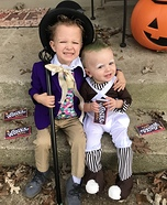 Willy Wonka & his Oompa Loompa Homemade Costume
